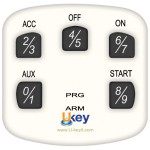 Extra Keypad for Ukey TS1100 - Part # TS1100-KPWH